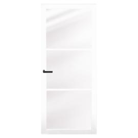 Nero Legno Genova White binnendeur blank vlak glas