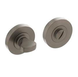 Intersteel Rozet met toilet-/badkamersluiting Ø52x10mm antracietgrijs