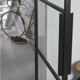 Draaideur pakket Slimserie hang en sluit 712 - Deurgreep Vernal 50 cm Mat Zwart