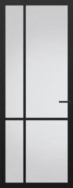 Svedex zwarte binnendeur met glas NDB903 Nova