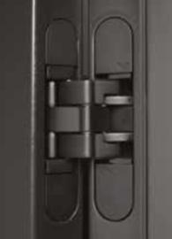 Scharnier Onzichtbaar Kubica K8080 Weekamp mat zwart