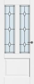 CanDo binnendeur Dimension Jersey met glas-in-lood Robijn