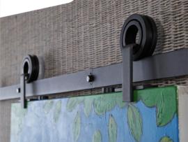 Schuifdeursysteem modern top mat zwart
