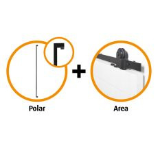 Schuifdeur pakket CanDo Area schuifsysteem + deurgreep Polar