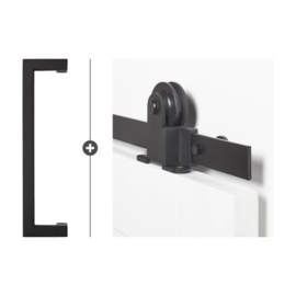 Schuifdeur pakket SlimSeries hang- en sluitwerk 516 - Deurgreep Biloxi
