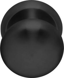 Voordeurknop Vast Rond Mat Zwart - ID 1502