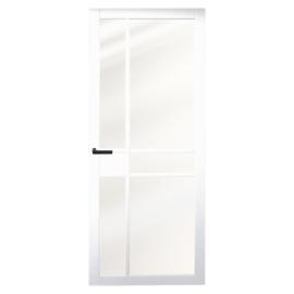 Nero Legno Imola White blank vlak glas binnendeur