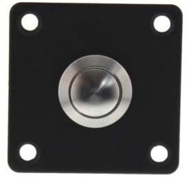Intersteel Deurbel vierkant rvs/mat zwart