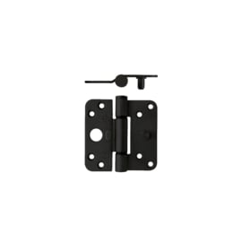Glijlagerscharnier mat zwart 89x89 zware belasting