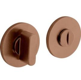 Olivari rozet rond toiletgarnituur koper  mat titaan PVD