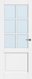 CanDo binnendeur Dimension Leeds met blank facetglas