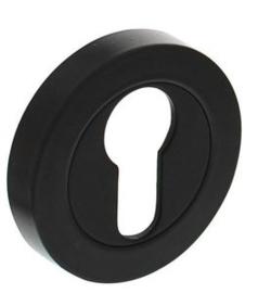 Intersteel Rozet met profielcilindergat 52x10mm zwart