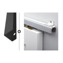 Schuifdeur pakket SlimSeries hang- en sluitwerk 542 - Deurgreep Vernal 50cm Mat Zwart
