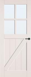 CanDo binnendeur Barn Porch blank glas