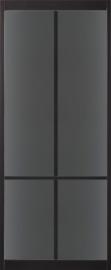 Skantrae SlimSeries Ultra Zwarte Binnendeur SSL 4108 rookglas