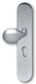 Skantrae Mat chroom veiligheidsgarnituur ovaal Easy, knop Wexford