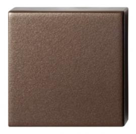 Blinde rozet 50x50x8 mm Bronze blend