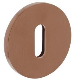 Olivari rozet rond met sleutelgat koper mat titaan PVD
