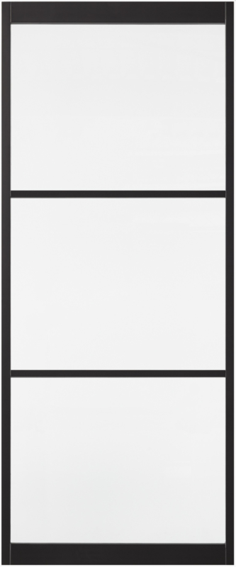 Skantrae SlimSeries Ultra Zwarte Binnendeur SSL 4103 Blank Glas