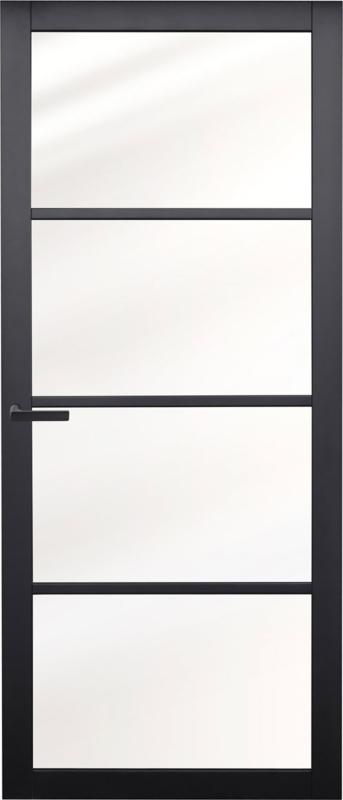 Nero Legno CHIARI zwarte binnendeur blank vlak glas
