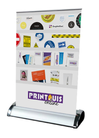 Mini roll-up banner