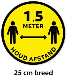 Sticker - Houd afstand - 25 cm - Vanaf 10 stuks