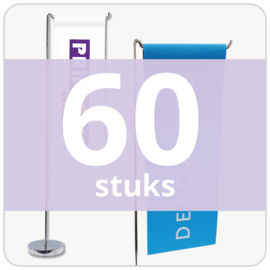 Tafelvlag - staand (60 stuks)
