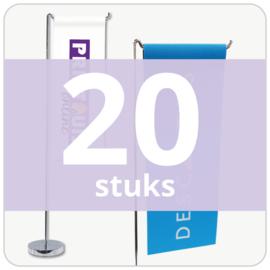 Tafelvlag - staand (20 stuks)