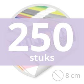 Ronde stickers 8 cm - 250 stuks