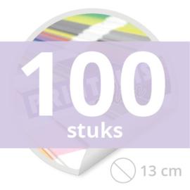 Ronde stickers 13 cm - 100 stuks