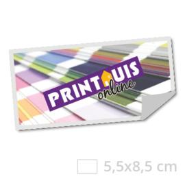 Sticker rechthoekig 5,5 x 8,5 cm - 250x