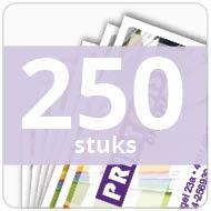 Visitekaartjes - gelamineerd - 250 stuks