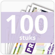 Visitekaartjes - gelamineerd - 100 stuks