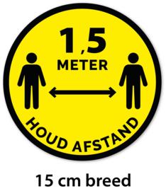 Sticker - Houd afstand - 15 cm - Vanaf 10 stuks