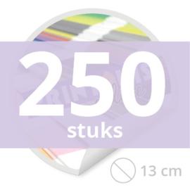 Ronde stickers 13 cm - 250 stuks