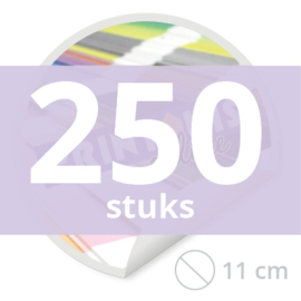Ronde stickers 11 cm - 250 stuks
