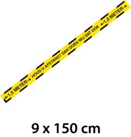 Sticker - Houd afstand - 150 cm - Vanaf 10 stuks