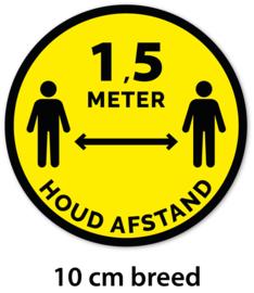Sticker - Houd afstand - 10 cm - Vanaf 10 stuks