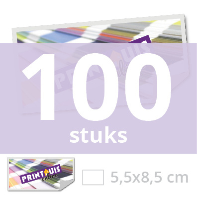Sticker rechthoekig 5,5 x 8,5 cm - 100x