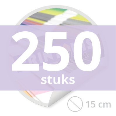 Ronde stickers 15 cm - 250 stuks