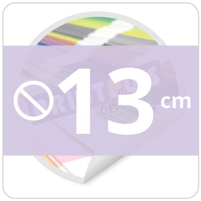 Sticker rond 13 cm