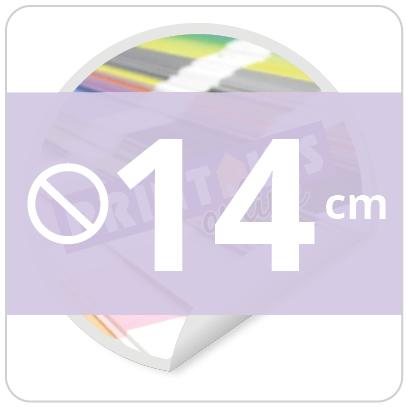 Sticker rond 14 cm
