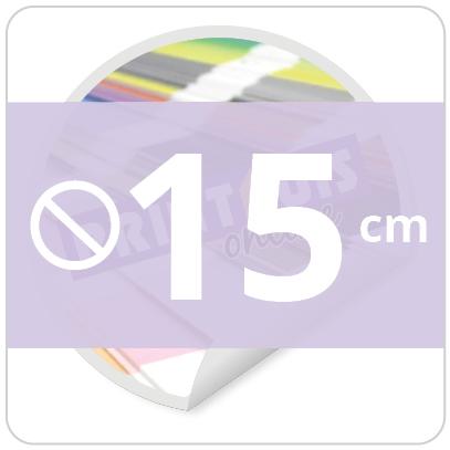 Sticker rond 15 cm