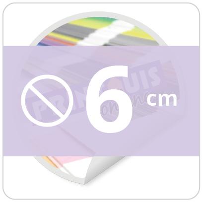 Sticker rond 6 cm