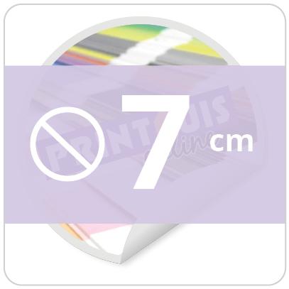 Sticker rond 7 cm