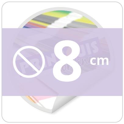 Sticker rond 8 cm
