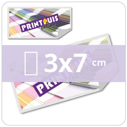 Stickers rechthoekig 3x7cm