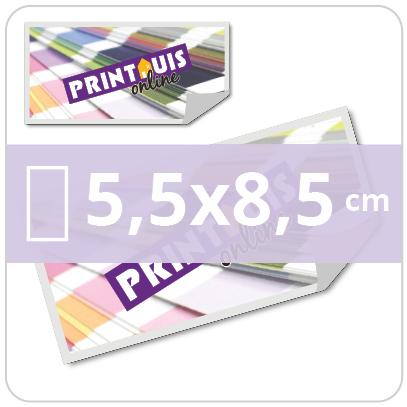 Stickers rechthoekig 5,5x8,5 cm