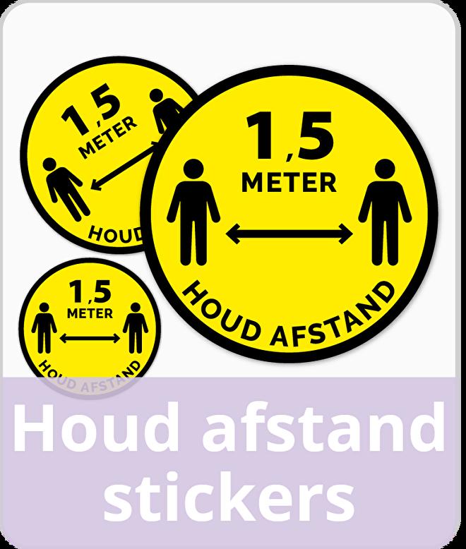 Houd afstand stickers