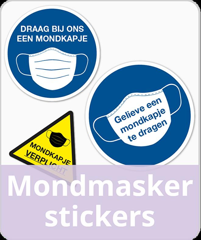 Mondmasker stickers
